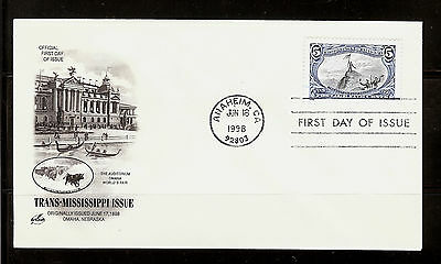 FIRST DAY COVER #3209d Trans-Mississippi 5c Reissue ARTCRAFT U/A FDC 1998
