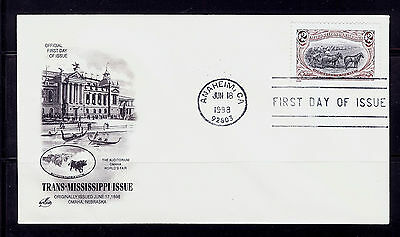 FIRST DAY COVER #3209i Trans-Mississippi $2 Reissue ARTCRAFT U/A FDC 1998