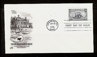 FIRST DAY COVER #3209g Trans-Mississippi 50c Reissue ARTCRAFT U/A FDC 1998