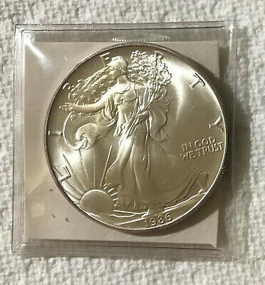 1986 American Silver Eagle First Year Of Issue One Oz Silver