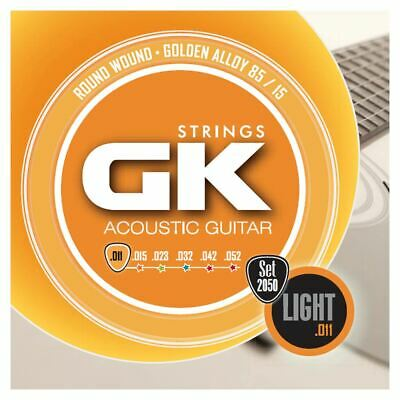 Medina Artigas Gk Acoustic Guitar Strings 2050 Light 11-52 - 85/15 Gold Alloy