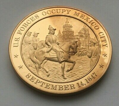 September 14,1847 U.s. Forces Occupy Mexico City  Franklin Mint Medal
