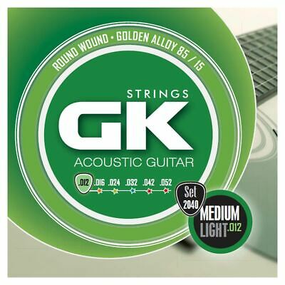Medina Artigas Gk Acoustic Guitar Strings 2040 Med Lt 12-52 - 85/15 Gold Alloy