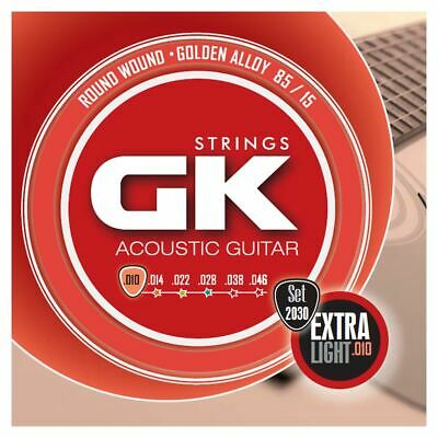 Medina Artigas Gk Acoustic Guitar Strings 2030 Ex Light 10-46 - 85/15 Gold Alloy