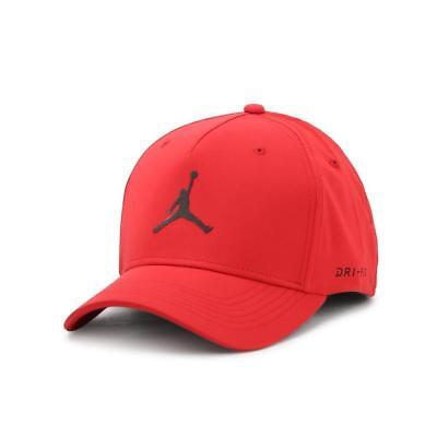 405e2ad9163 NIKE JORDAN CAP Jordan Classic 99 Woven Flex-Fit Hat Jumpman Gym Red ...