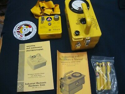 Lot Victoreen Radiological Survey Meter and Dosimeter Charger aka geiger counter