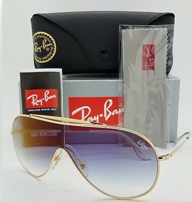 e1a149560d3d NEW Rayban Wings sunglasses RB3597 001/X0 33mm Gold Blue Gradient AUTHENTIC  3597