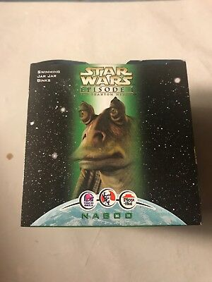 1999 Star Wars Episode 1 SWIMMING JAR JAR BINKS KFC Taco Bell Pizza Hut