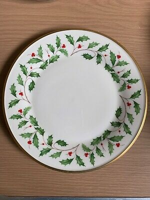 Lenox Holiday Christmas China 10.75 inch Dinner Plate Holly Berry