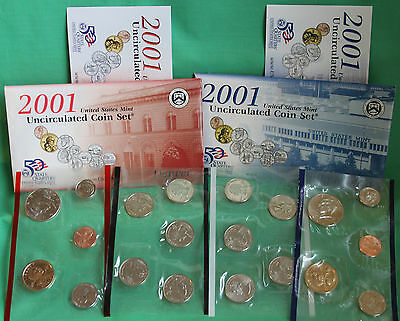2001 Annual Uncirculated 20 Coin Set US Mint BU P and D Philadelphia Denver
