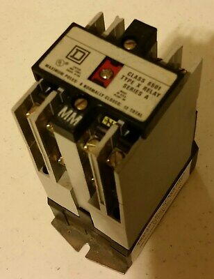 Square D - Class 8501 Type X - Series A - 8 (No) Contacts -  Control Relay (Ku)