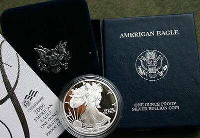 2006 AMERICAN SILVER EAGLE PROOF DOLLAR US Mint ASE Coin with Box and COA
