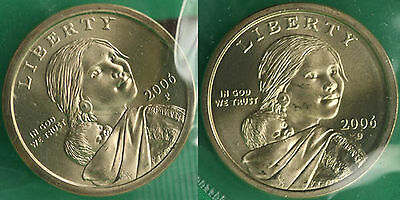 2006 P and D Sacagawea Dollar BU 2 Satin Coins Cello US Mint Set Native American