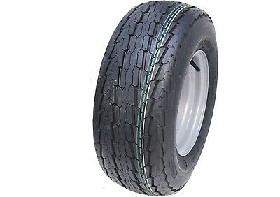 20.5x8-10 trailer wheel, 8ply, high speed, road legal tyre, 4 stud rim 20.5 8-10