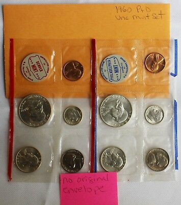 BU 1983 P/&D US Mint Nuemesmatic News Style Gift Set 10 Coins in Cello Envelope