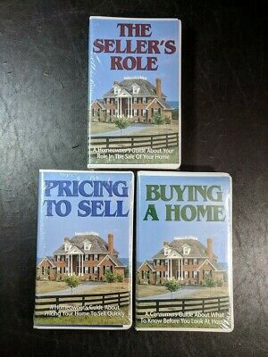 New & Sealed Buying Selling Homeowner's Guide Real Estate Clam Shell VHS Tape