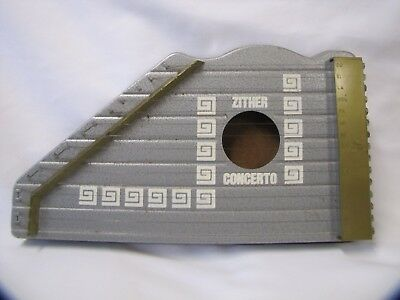 Zither Stringed Instrument w Box Junior Zither Concerto Cetra Concerto Vintage