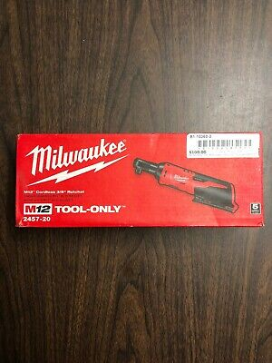 """Milwaukee 2457-20 M12 12V 3/8"""" Inch Cordless Ratchet (Tool Only)"""