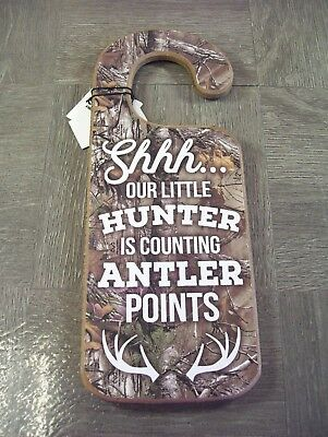 Hunting baby theme door hanger Do not disturb