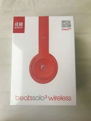 NEW IN BOX - Beats by Dr. Dre Solo3 Wireless Headband Headphones - (PRODUCT) RED