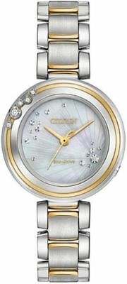 Women's Citizen Carina Two Tone Diamond Watch EM0464-59D