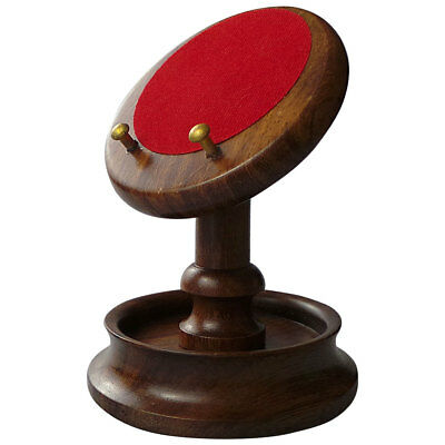 WOODEN POCKET WATCH STAND Display Hanger Holder Real Wood Brass Luxury Quality