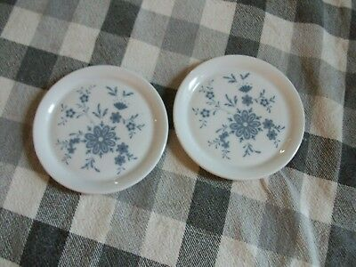 "4"" Christina BAVARIAN BLUE Porcelain Plate Pair- Seltmann Weiden W. Germany"