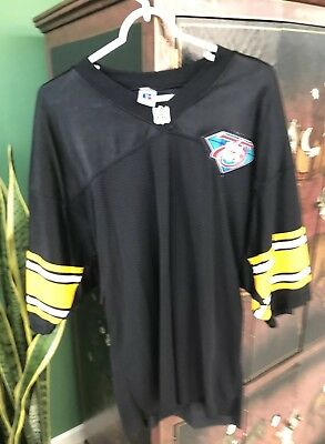 06c605bdb76 Pittsburgh Steelers 75th Anniversary Jersey 48 Large Black HIP HOP NO  NUMBER EUC
