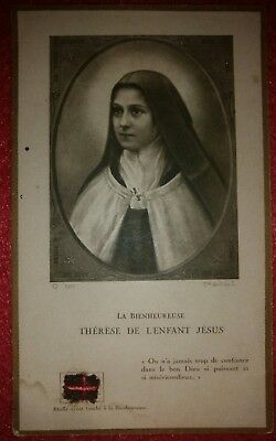 relic holy card saint Teresa Therese of infant child jesus Lisieux
