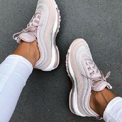 NIKE AIR MAX 97 Particle Rose Glitter Uk Size 4 Eur 37.5