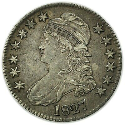 1827 Capped Bust Half Dollar, Nice, Rare, Early Type Silver Coin [4159.22]