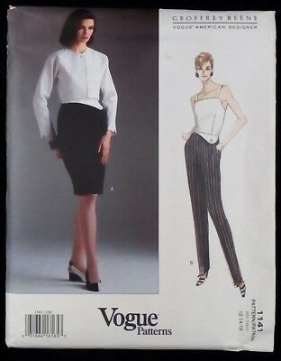 VOGUE 1141 American Design GEOFFREY BEENE Jacket Dress Jumpsuit  12-14-16 UNCUT
