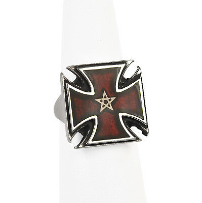 Pentacle Formée Ring (Rare/Retired) - Alchemy Gothic Cross Pattée & Pentagram