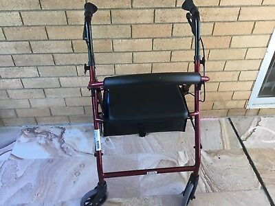 Mobility walking aid. Red 4 wheeled. Excellent condition.