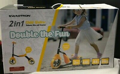 SWAGTRON 2 in 1 Child Walker Balance Bike and Scooter BRAND NEW IN BOX