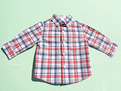 janie and jack baby boys plaid shirt size 6-12 months from car classic line