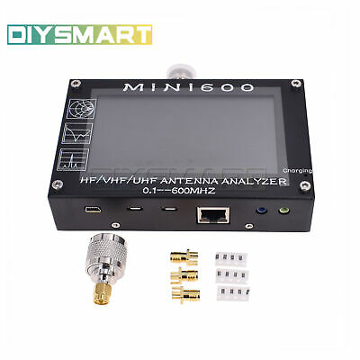 "Mini600 0.1-600mhz HF/VHF/UHF Antenna Analyzer Capacitive 4.3"" Touch Screen AU"