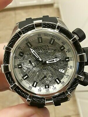 Meteorite Dial 50mm Invicta Reserve Bolt Sport Chronograph Watch Black mens