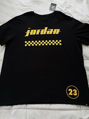 43b1a645504f NIKE AIR JORDAN AJ 1 New Love T-shirt Men s XXL Black Yellow NWT JSW ...