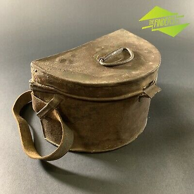 Interesting Pre-Ww1 Soldiers Hand-Made Mess Tin? With Leather Strapping Ww1