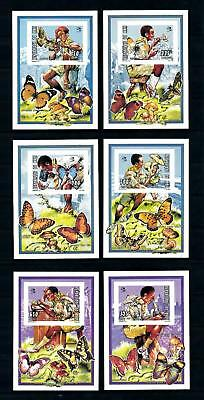 [76557] Mali 1995 Scouting Butterflies Mushrooms 6 Imperf. Sheets MNH