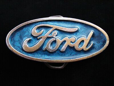 Re09116 Vintage 1980 **Ford** Motor Company Advertisement Belt Buckle