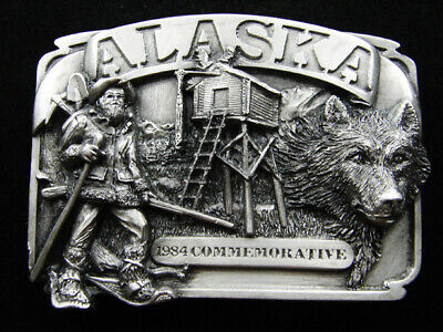 Rg07143 *Nos* Vintage 1984 **Alaska** State Commemorative Belt Buckle