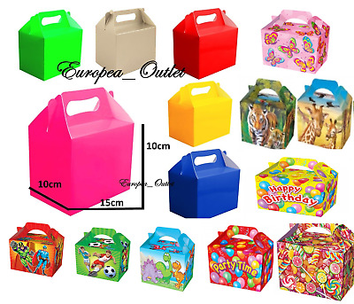 10 Children  Kids Party Lunch Boxes Colour Birthday Wedding Meal Food Loot Bag