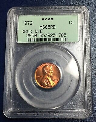 1972 1C Lincoln Cent Double Die Obverse PCGS MS 65 Red