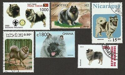 KEESHOND ** Int'l Postage Stamp Collection **Great Gift Idea**