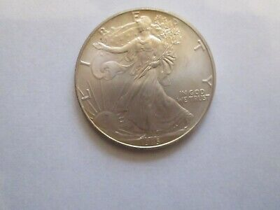 1995 $1 American Silver Eagle, Ch Unc, Light toning.