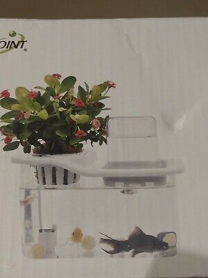 1/10Mini Aquaponics Ecosystem Hydroponics Fish Tank Water Garden Ecological...