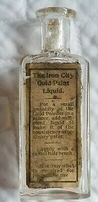 Vintage Antique Bottle Iron City Gold Paint Pittsburgh Wont Find Another 1 Rare