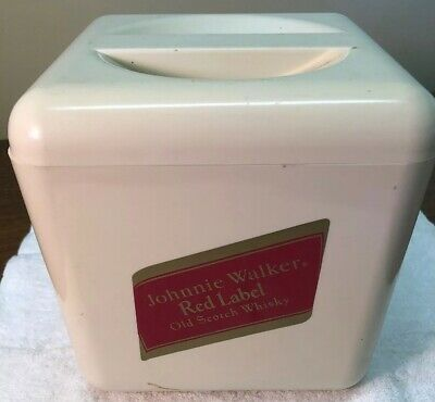 Johnny Walker Red Label Plastic Ice Bucket Made In England